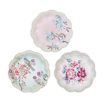 Truly Romantic Dainty Paper Plates - pack of 12